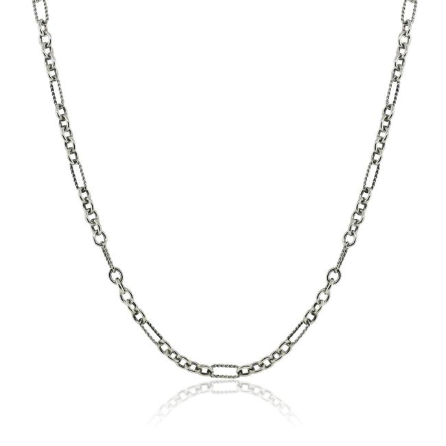 Item - White Yellow Two Tone 18″ Chain Link Necklace