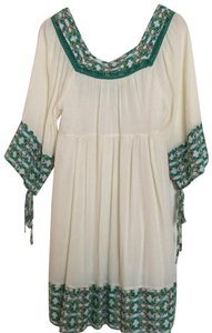 Other short dress Cream and Green on Tradesy