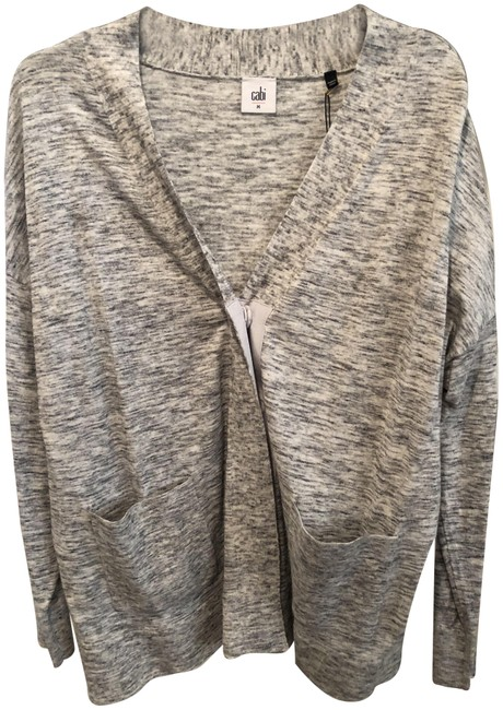 Preload https://item4.tradesy.com/images/cabi-gray-blackwhite-speckle-marble-cardigan-size-8-m-23848173-0-1.jpg?width=400&height=650