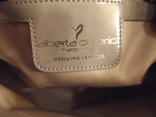 Alberta Di Canio Made In Italy Zippered Compartment Removeable Strap Satchel in Smoky Gray