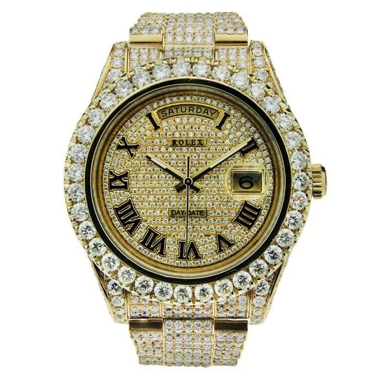 Preload https://item4.tradesy.com/images/rolex-yellow-gold-day-date-ii-18k-custom-set-with-diamonds-41mm-watch-23848183-0-0.jpg?width=440&height=440