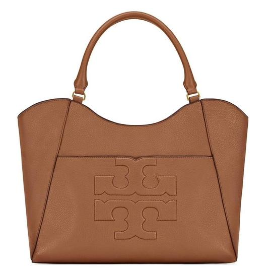 Preload https://item1.tradesy.com/images/tory-burch-bombe-new-logo-summer-purse-rare-tan-brown-bark-leather-tote-23848185-0-0.jpg?width=440&height=440