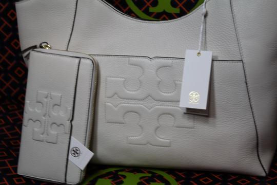Tory Burch Summer Large Logo Tote in Ivory white NWT
