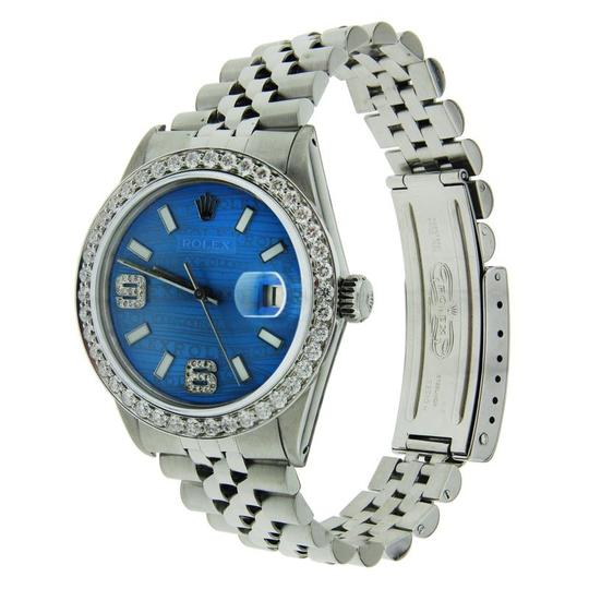 Rolex Rolex Datejust Stainless Steel with Blue Wave Dial & Diamond Bezel 36m