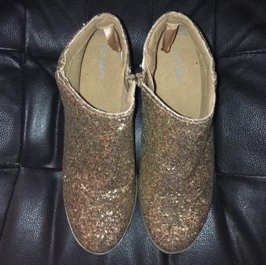 Old Navy Gold Glitter Boots