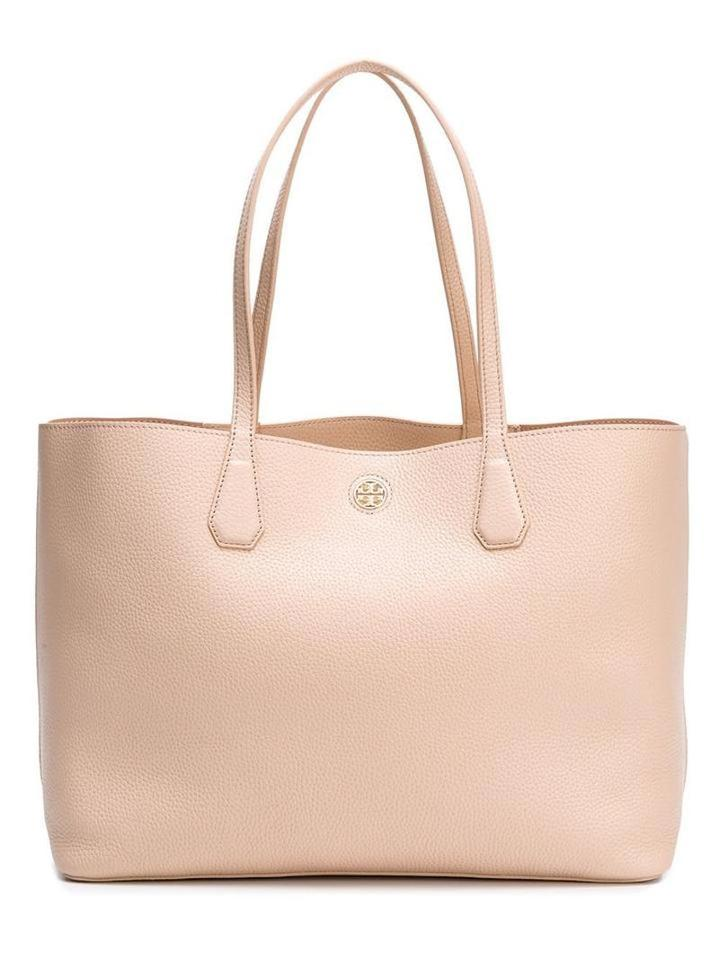 Pink Leather Large Tote Burch Light Tory Shopper axXqInP