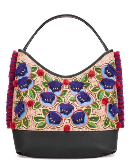 Preload https://item1.tradesy.com/images/tory-burch-embroidered-new-pom-pom-shoulder-purse-multicolor-navy-leather-and-canvas-tote-23848300-0-0.jpg?width=440&height=440