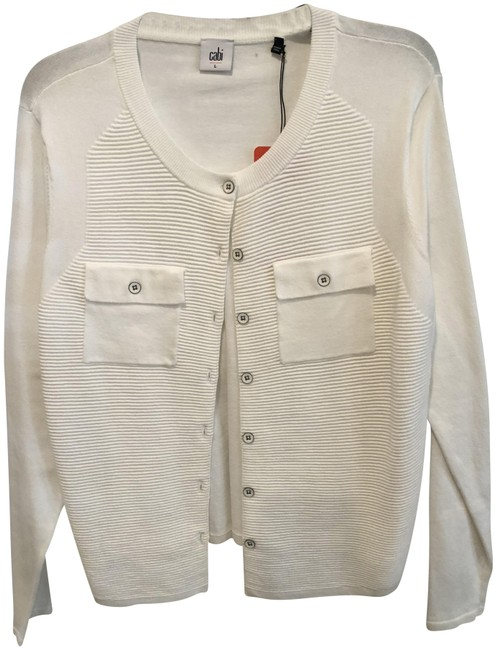 Preload https://item3.tradesy.com/images/cabi-white-fencing-cardigan-size-12-l-23848307-0-1.jpg?width=400&height=650
