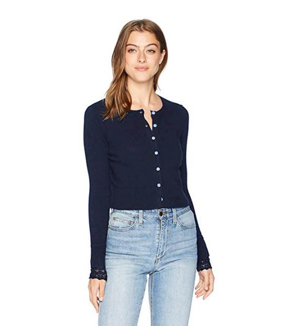 Preload https://item2.tradesy.com/images/minnie-rose-navy-lace-cuff-cardigan-size-2-xs-23848326-0-1.jpg?width=400&height=650