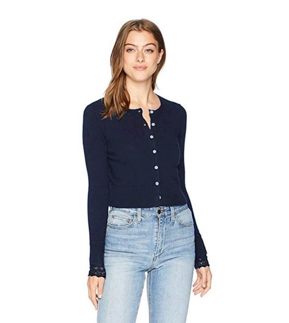 Preload https://img-static.tradesy.com/item/23848326/minnie-rose-navy-lace-cuff-cardigan-size-2-xs-0-1-650-650.jpg