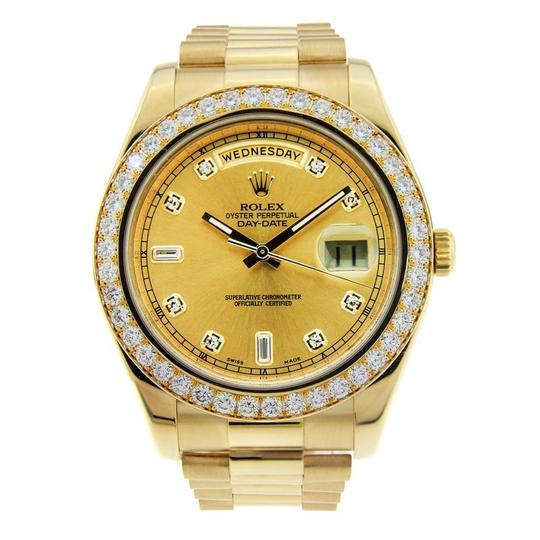 Preload https://item4.tradesy.com/images/rolex-yellow-gold-day-date-ii-18k-with-diamond-dial-and-bezel-watch-23848328-0-0.jpg?width=440&height=440