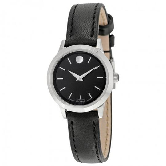 Preload https://item4.tradesy.com/images/movado-black-leather-ladies-watch-23848353-0-0.jpg?width=440&height=440
