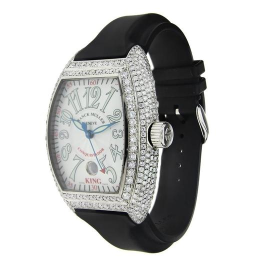 Franck Muller Franck Muller Stainless Steel Conquistador Custom with Diamonds 42mm