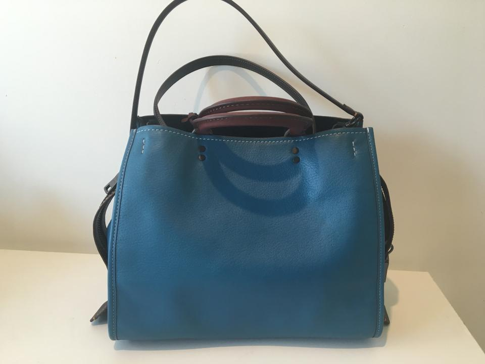 Bag Natural Patches Rough 1941 Blue Pebble Shoulder Leather Space Coach qzafwT
