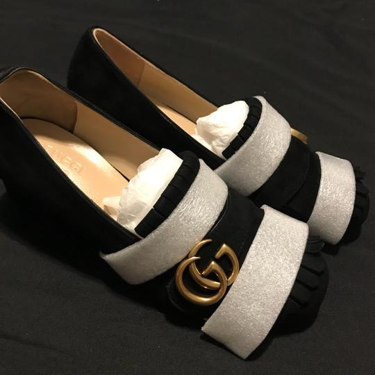Gucci Black and Gold Pumps