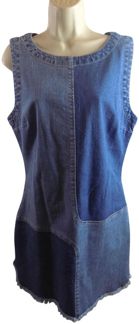 Preload https://item4.tradesy.com/images/ag-adriano-goldschmied-blue-sleeveless-cotton-stretch-denim-bup-new-l-short-casual-dress-size-12-l-23848388-0-1.jpg?width=400&height=650