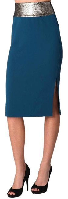 Preload https://img-static.tradesy.com/item/23848410/diane-von-furstenberg-blue-metallic-elvina-pencil-knee-length-skirt-size-8-m-29-30-0-4-650-650.jpg