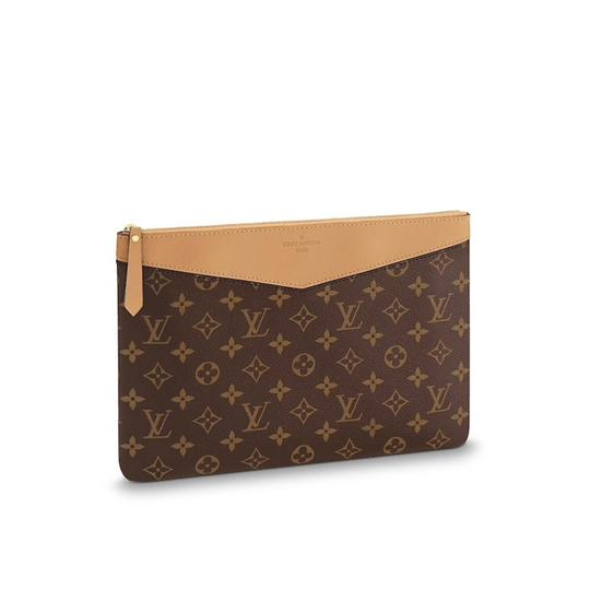 Preload https://item4.tradesy.com/images/louis-vuitton-brown-new-daily-pouch-sesame-monogram-wallet-23848418-0-1.jpg?width=440&height=440