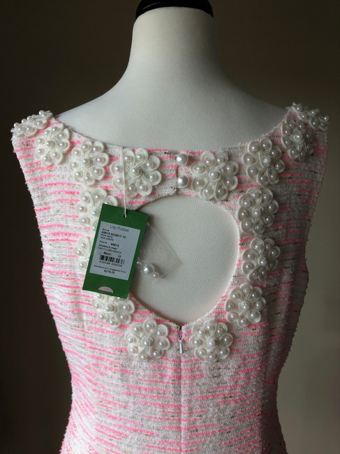 Lilly Pulitzer short dress Sparkle Pink Boucle Cocktail Pearl Button Chic on Tradesy