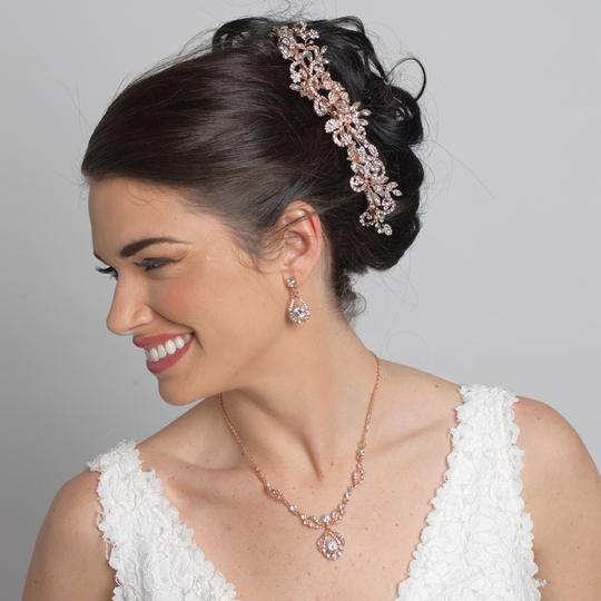 Preload https://img-static.tradesy.com/item/23848441/elegance-by-carbonneau-rose-gold-rhinestone-floral-vine-bun-wrap-hair-accessory-0-0-540-540.jpg