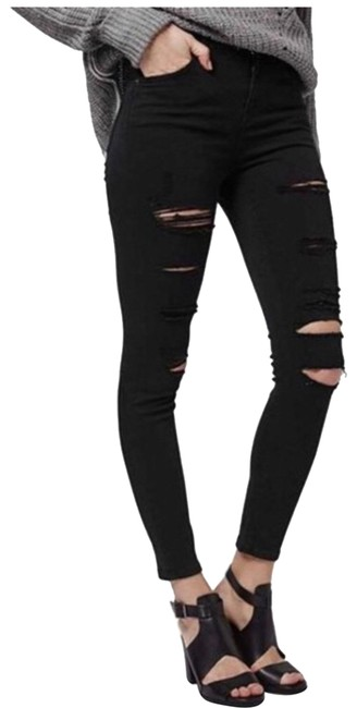 Preload https://item4.tradesy.com/images/topshop-black-with-rips-distressed-jamie-skinny-jeans-size-6-s-28-23848453-0-1.jpg?width=400&height=650