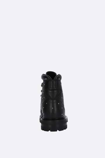 Valentino Hiking Combat Rockstud Winter Black Boots