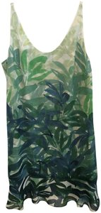 CAbi short dress Green Print on Tradesy