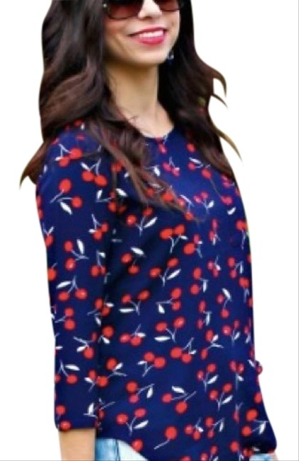 Preload https://img-static.tradesy.com/item/23848464/le-lis-navy-red-and-white-cherry-print-blouse-size-8-m-0-1-650-650.jpg