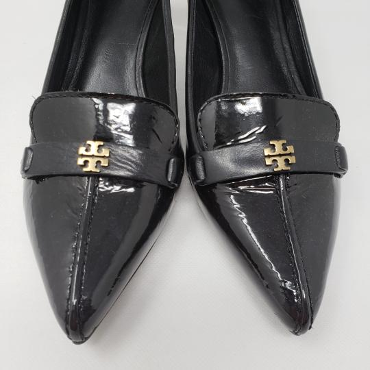 Tory Burch Selma Reva Hardware Pointed Toe Eliza Black, Gold Pumps