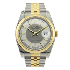 Rolex Rolex Datejust Stainless Steel & Yellow Gold with Steel & Silver Dial