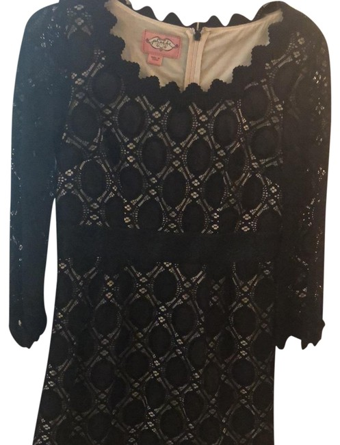 Preload https://img-static.tradesy.com/item/23848514/phoebe-couture-black-lace-detail-35-quarter-sleeve-mid-length-cocktail-dress-size-6-s-0-1-650-650.jpg