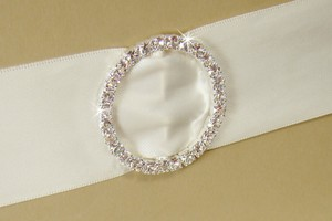 Elegance by Carbonneau Silver Rhinestone Circle Invitation Buckle ( Set Of 50 )