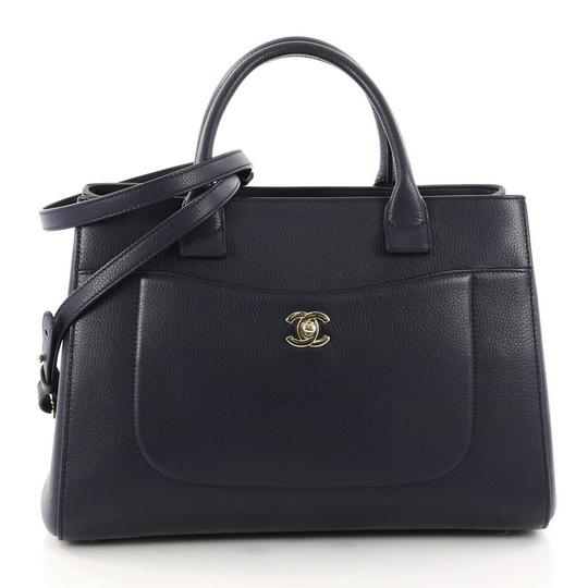 Preload https://item3.tradesy.com/images/chanel-neo-executive-grained-small-navy-calfskin-leather-tote-23848522-0-0.jpg?width=440&height=440
