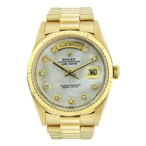 Rolex Rolex Day Date 18K Yellow Gold with Diamond Hour Markers 36mm