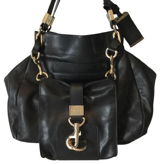 Preload https://item5.tradesy.com/images/jimmy-choo-new-2-in-1-with-crossover-black-leather-shoulder-bag-23848539-0-0.jpg?width=440&height=440
