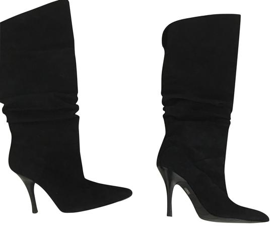 Preload https://img-static.tradesy.com/item/23848555/fitzwell-black-suede-ruched-bootsbooties-size-us-85-regular-m-b-0-1-540-540.jpg