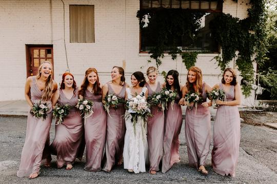 Anthropologie Mauve Chiffon Angie #44648640 Formal Bridesmaid/Mob Dress Size 2 (XS)