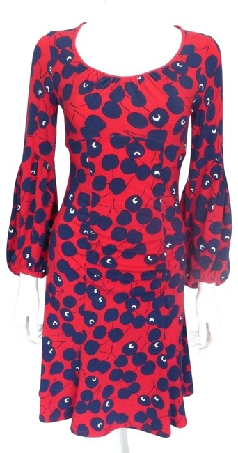 Preload https://item1.tradesy.com/images/nanette-lepore-red-wdark-navy-cherry-pattern-wdark-eu-36-mid-length-workoffice-dress-size-2-xs-23848585-0-1.jpg?width=400&height=650