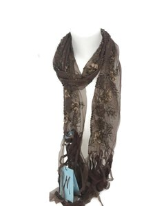 Marciano Marciano Women's Sheer Bronze Brown Nylon Sequin Embellished Scarf
