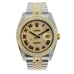 Rolex Rolex Datejust Two Tone with Aftermarket Diamonds 36mm