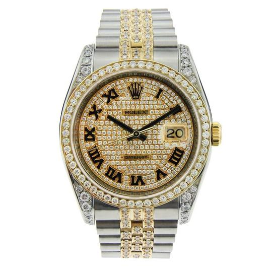 Preload https://item5.tradesy.com/images/rolex-yellow-gold-datejust-two-tone-with-aftermarket-diamonds-36mm-watch-23848589-0-0.jpg?width=440&height=440