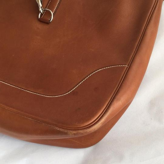 Hermès Courchevel Cognac Hobo Bag