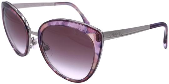 Preload https://img-static.tradesy.com/item/23848632/chanel-pink-silver-4208-c466s1-butterfly-fall-cat-eye-t80-sunglasses-0-1-540-540.jpg