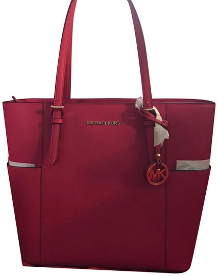 Preload https://item2.tradesy.com/images/michael-kors-pink-leather-tote-23848636-0-1.jpg?width=440&height=440