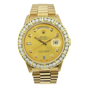 Rolex Rolex Day Date 18K Yellow Gold with Aftermarket Diamond Bezel 36mm