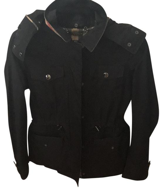 Preload https://item1.tradesy.com/images/burberry-london-black-with-detachable-hood-raincoat-size-6-s-23848655-0-2.jpg?width=400&height=650