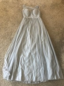 Jenny Yoo Ciel Blue Tulle Aria Formal Bridesmaid/Mob Dress Size 0 (XS)