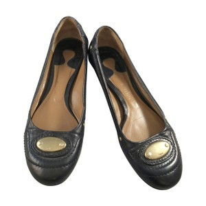 Chloé Ballet Leather Navy Blue Flats