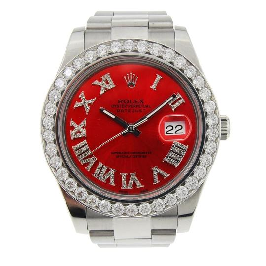 Preload https://item3.tradesy.com/images/rolex-silver-and-red-datejust-stainless-steel-with-aftermarket-diamond-bezel-and-marker-watch-23848697-0-0.jpg?width=440&height=440