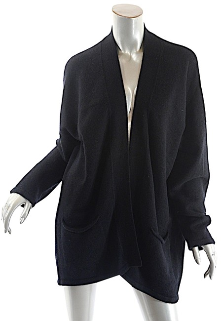 Preload https://img-static.tradesy.com/item/23848698/black-plush-cashmere-relaxed-sweater-cardigan-size-os-one-size-0-1-650-650.jpg